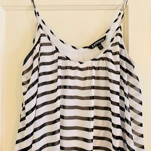Express Dresses - Scoop neck, stripped EXPRESS, sundress
